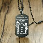 Vnox In the Darkest Hour When Demons Come Brothers Dog Tags for Men Stainless