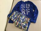 NWT Gymboree Boy Rash Guard Surf Shirt Trunk shorts Set UPF 50+ Blue 2pc set