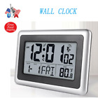 Digital LCD Atomic Large Desk Wall Clock 7 Languages Indoor Temperature Meter US