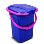 19L Portable Toilet WC Bucket Travel Camping Festival Loo Stable High Quality UK