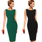 Womens Celebrity Ruched Wear To Work Office Business Party Bodycon Pencil Dress