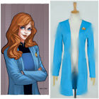 Star Trek:The Next Generation TNG Cosplay Beverly Crusher Costume Blue Coat Suit on eBay