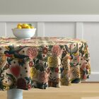 Round Tablecloth Tattoo Vintage Body Art Steampunk Gothic Romantic Cotton Sateen