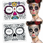 Halloween Dress up Day Of The Dead Facial Makeup Temporary Tattoo Stickers $9.16 USD on eBay