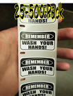 """""""remember Wash Your Hands"""" 25-500 Pack Labels Decal Stickers Pandemic Water-resi"""