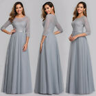 Ever-Pretty Elegant A-Line Floral Lace Long Wedding Dress Bridesmaid Party Gowns
