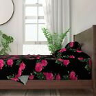 Pink Roses Photography Floral Redoute 100% Cotton Sateen Sheet Set by Roostery