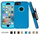 For iPhone 6 6s Plus Shockproof Rugged Case with Belt Clip fit OtterBox Defender