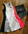 New Adidas by Stella McCartney Barricade Dress & Shorts, Navy Blue, White, Pink