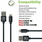 For iPhone X XR XS iPhone 11 8 7 6 Plus Lightning Charger Cable Data Sync Cord