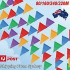au 80m 320m colorful bunting triangle flags wedding party outdoor banner decor