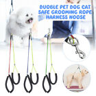 Duoble Dog Cat Safe Grooming Loop Table Pet Arm Body Holder Rope Harness Noose