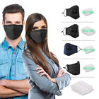Pm2.5 Anti Air Pollution Dust Face Cover W/ Respirator Filter Washable Reusable