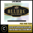 2019-20 UPPER DECK ALLURE HOCKEY 10 BOX (FULL CASE) BREAK #H723 - PICK YOUR TEAM $25.0 CAD on eBay