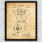 Coffee Pot Percolator Kitchen Patent Art Print Decor - Size and Frame Options