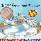 Cute Gold Silver Sea Turtle Ring Women/men Family Jewelry Dad Mother's Day Gift
