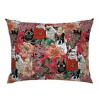 Frenchie Floral French Bulldog Dog Lover' Novelty Lover Pillow Sham by Roostery