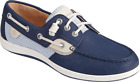 Women's Sperry Top-Sider Songfish Mini Check Boat Shoe Navy Leather