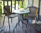 Garden Bistro Set Outdoor Dining Chairs Table Patio Rattan Furniture 3 Pieces