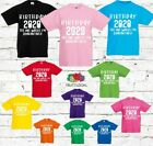 Kids Birthday 2020 The One Where I Was Quarantined - T-Shirt-Boy Girl White Font