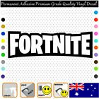 2x Fortnite Text Vinyl Decal Adhesive Sticker Car/wall/laptop/window,etc