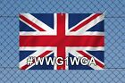 WWG1WGA PVC Outdoor Banner British Union Flag patriotic Qanon UK Great Britain