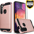 For Motorola Moto G Stylus Dual Layer Shockproof Case +Tempered Glass Protector