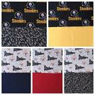 """100% COTTON FABRIC REMNANT 1 PITTSBURGH """"STEELERS"""" & 1 9X9"""" CONTRASTING PANEl $5.0 USD on eBay"""