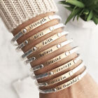 Inspiration Stacking Bangle bracelet Faith Blessed Believe Courage strength USA