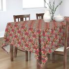 Tablecloth Sloth Floral Pink Flowers Animal Cute Unique Fashion Cotton Sateen