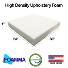 """Foamma 1-10""""x24""""x30"""" Upholstery Foam, High Density, New Cusion Replacement"""