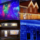 Christmas Xmas Bright LED Snowing Icicle Lights Fairy Indoor Outdoor House Tree