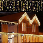 CHRISTMAS LED WARM WHITE SNOWING ICICLE BRIGHT PARTY WEDDING XMAS OUTDOOR LIGHTS