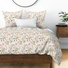 Floral Watercolor Illustration Indy Bloom Water Sateen Duvet Cover by Roostery image