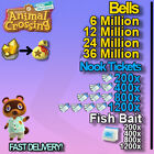 FixedPricebells, nook tickets, fish bait fast delivery!