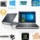 "Dell 14"" Latitude QUAD Core i7 laptop notebook 16GB RAM SSD HDMI MSOffice NVIDIA"