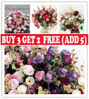 21 Heads Silk Rose Artificial Flowers Bouquet Buch Wedding Home Party Decor Ukcb