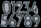 2019 2021 OFFICIAL AVERY DENNISON PREMIER LEAGUE BLACK NUMBERS 230mm PLAYER SIZEEnglish Clubs - 106485