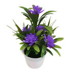 FixedPrice1*realistic artificial flowers plant in pot outdoor home garden decoration 18cm