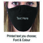 Face Mask UK Personalised Performance, Washable Re-Usable, Any Text,Print,Adult