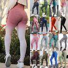 Womens High Waist Seamless Yoga Pants Ombre Leggings Sports Gym Fitness Trousers
