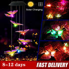 Solar Powered Led Light Butterfly Wind Chime Color Changing Lamp Garden Decorate