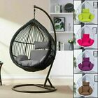 Swing Hanging Rattan Chair Outdoor Garden Patio Hammock Stand Porch Cushions Pad