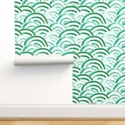 Removable Water-Activated Wallpaper Emerald Greenery Green Littlearrow