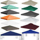 3x3m Garden Gazebo Top Cover Roof Replacement Water-proof Tent Canopy 1/2-Tier