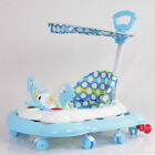 Baby Walker First Step Push Along Bouncer Rocking Horse Toy Ride with Umbrella