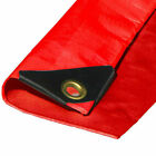 Heavy Duty Red Canopy Top Premium Sun Shade Tarp