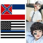 3x5cm Usa Police Blue Mississippi State Flag Stickers For Face And Hands