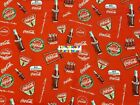 COCA COLA COKE Cotton Fabric - 1/4 Yard to 1 YARD - OOP & RARE! $22.95 USD on eBay