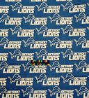 NFL DETROIT LIONS Cotton Fabric - 1/2 Yard to 1 YARD - OOP $19.95 USD on eBay